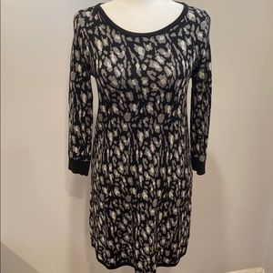 Express Leopard Print Sweater Dress